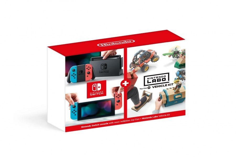 Nintendo Switch - Neon + Nintendo Labo Vehicle kit