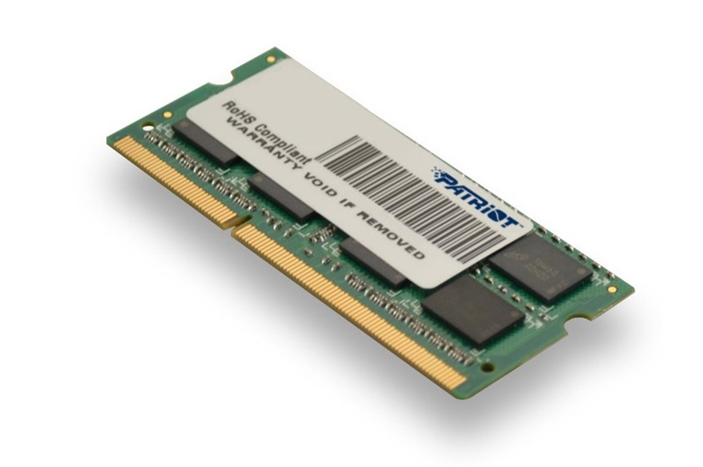 Patriot 4Gb So-dimm Ddr3-1600mhz 1,35V Dr Psd34g1600l2s