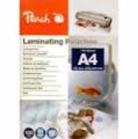 PEACH 510438 laminovací fólie A4 125m 25 - Peach laminovací folie A4 (216x303mm) Laminating Pouch, 125mic, 25ks - PPR525-02