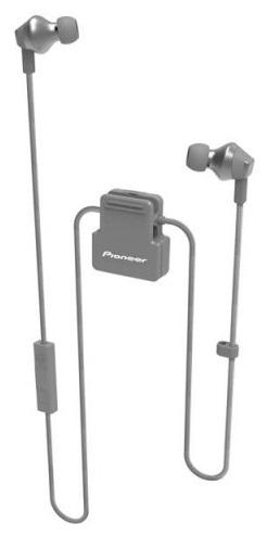 PIONEER SE-CL6BT-H sluchátka / BT/ šedá