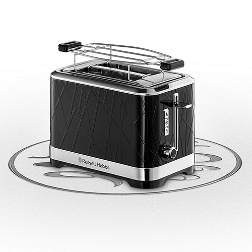 Russell Hobbs 28091-56 Structure 2 Slice Toaster Black