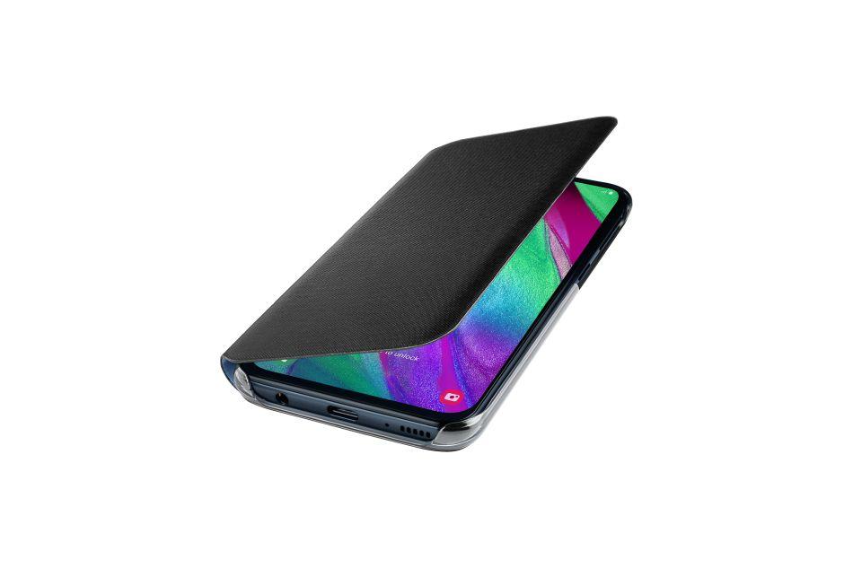 Pouzdro originální Wallet Samsung Galaxy A40 černé - Pouzdro Samsung EF-WA405PB černé
