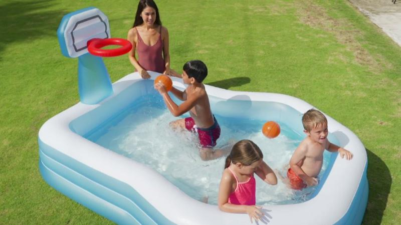 Hrací centrum / bazén Intex 57183 Basketbal 257x188x130 cm + DOPRAVA ZDARMA