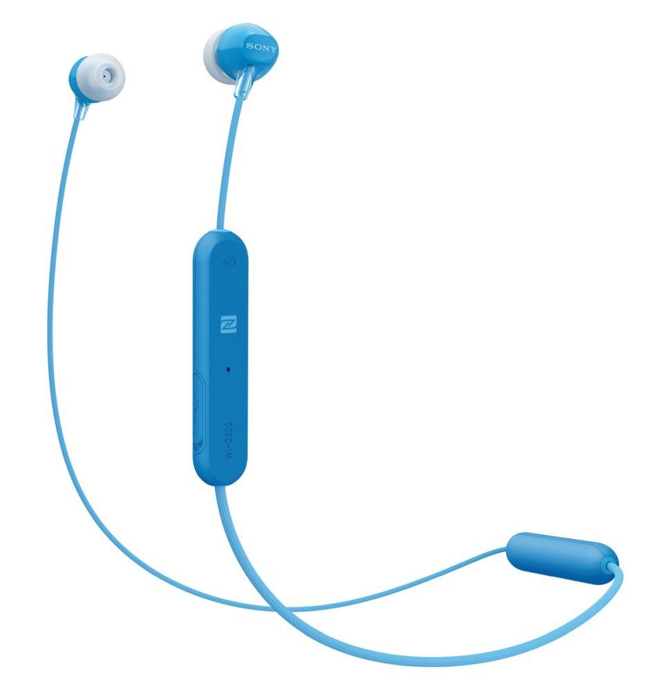 Sony WI-C300 bezdrátová sluchátka, modrá