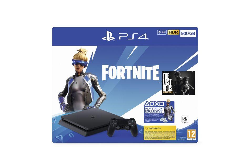 Sony PlayStation 4 Slim - 500 GB + Fortnite + TLU HITS