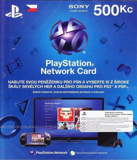SONY PlayStation Store - 500Kč