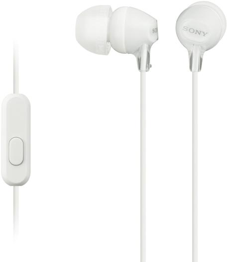 Sony MDR-EX15APW sluchátka s mikrofonem, White