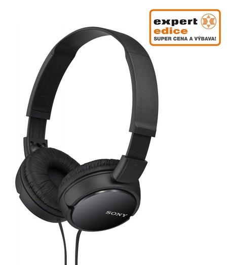 Sony MDR-ZX110B hud. sluchátka 30mm s mostem,Black