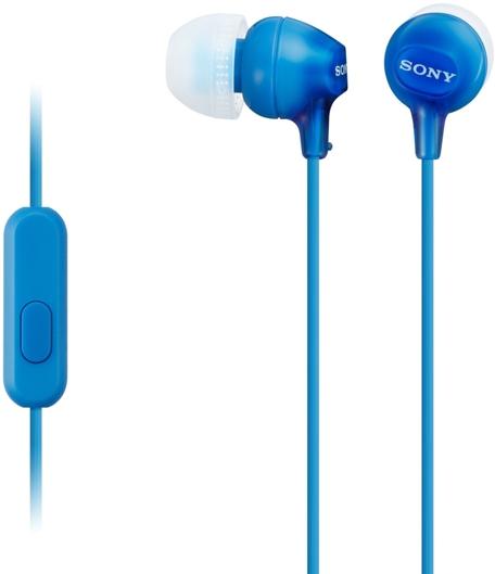 Sony MDR-EX15APLI sluchátka s mikrofonem, Blue
