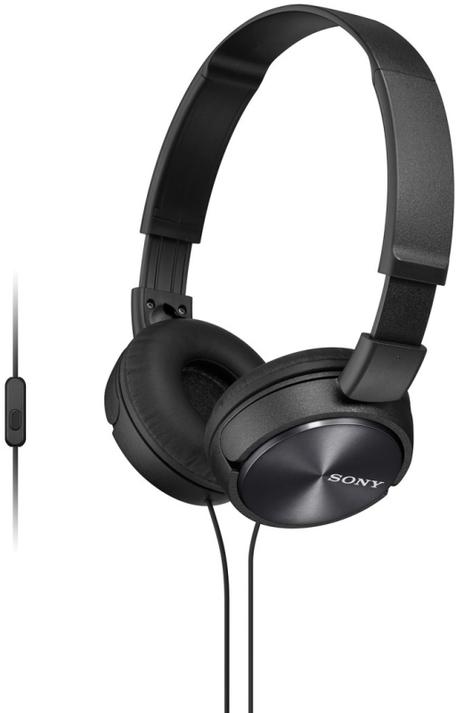 Sony MDR-ZX310AP sluchátka 30mm s mostem, Black