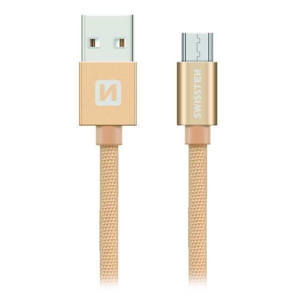 Swissten kabel Kabel Textile Micro Usb 0,2 M G