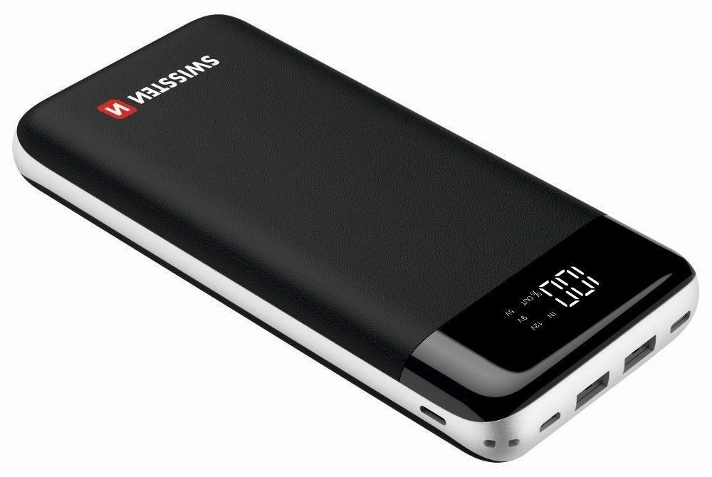 Swissten powerbanka Black core Powerbank 30000 mAh