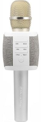 Přenosný reproduktor Technaxx FABRIC, karaoke mikrofon šedá