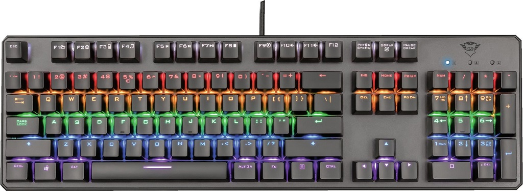 Trust GXT 865 Asta, černá - Trust GXT 865 Asta Mechanical Keyboard 22630