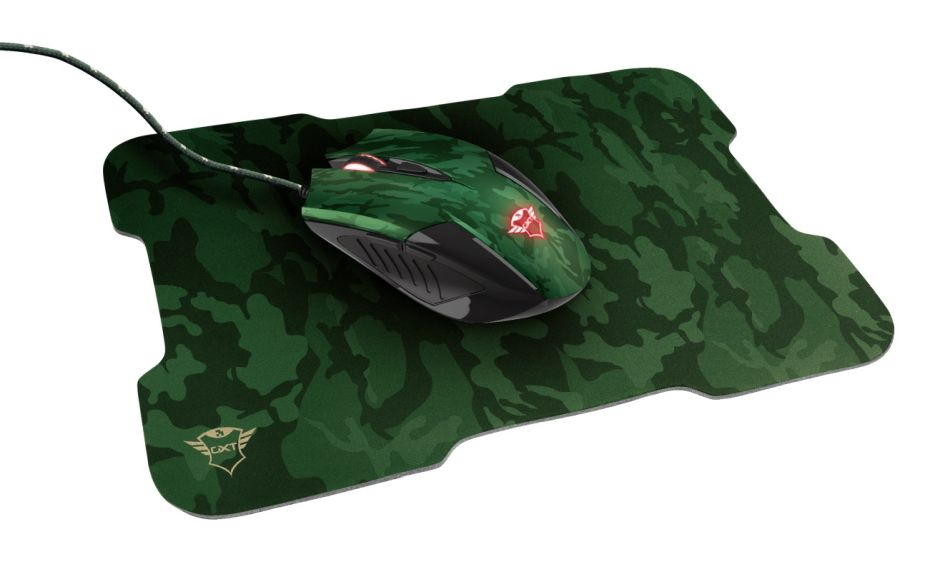 Trust GXT 781 Rixa Camo Gaming Mouse & Mouse Pad 23611