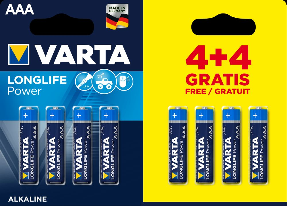 VARTA Longlife Power 8 AAA (4+4)