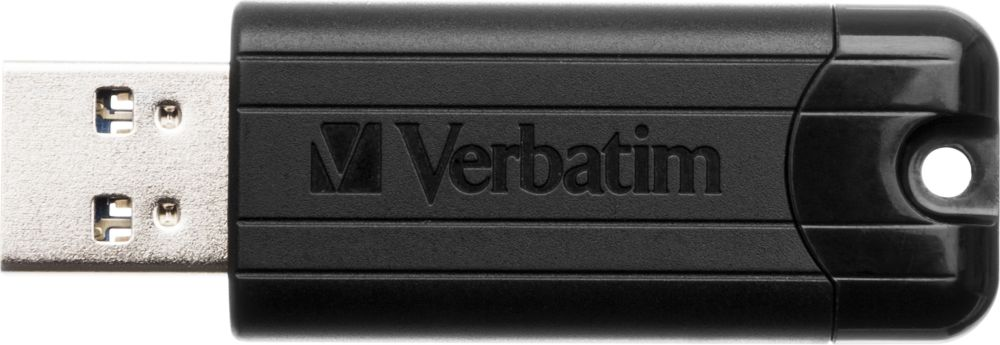 VERBATIM flash disk Store 'n' Go PinStripe 128GB USB 3.0 černá