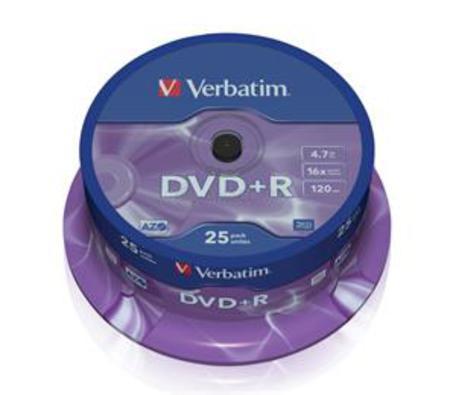 Verbatim DVD+R 4,7GB 16x, 25ks
