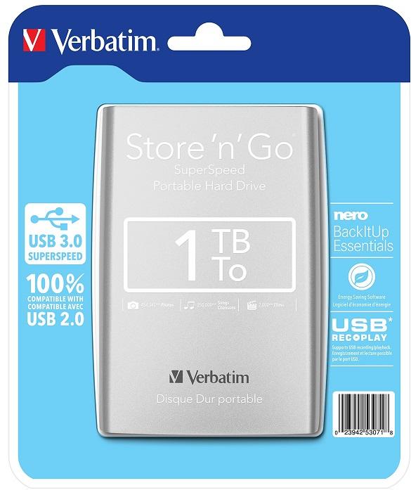 VERBATIM Store'n'Go 1TB Silver (53071)