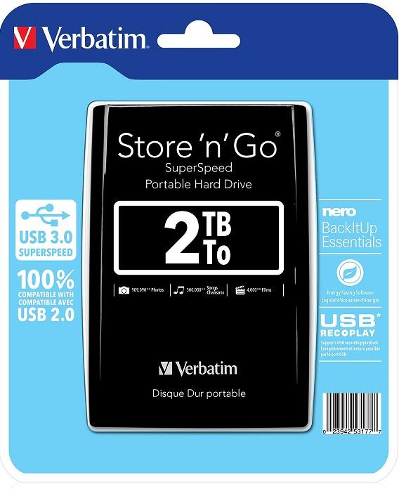 VERBATIM Store'n'Go 2TB Black (53177)