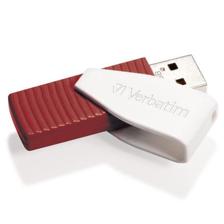 VERBATIM USB FD 16GB Swivel Red - Verbatim Swivel 16GB 49814