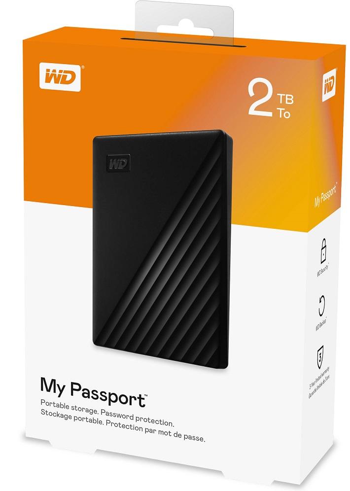 "WD My Passport 2TB, černá - WD My Passport 2TB, 2,5"", WDBYVG0020"