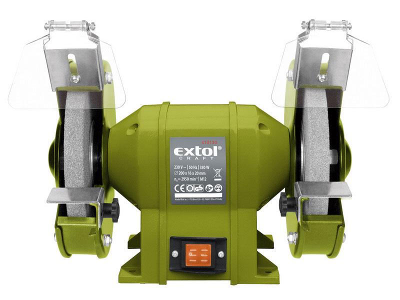 EXTOL CRAFT 410130 bruska stolní dvoukotoučová, 350W