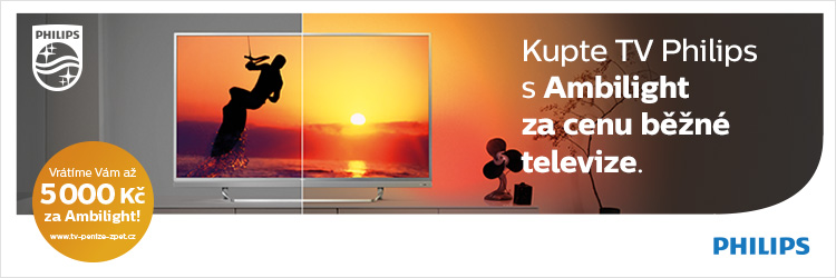 Až 5000 Kč na Philips Ambilight category
